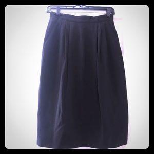 Peter Nygard Black Silk Skirt